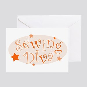 """Sewing Diva"" [orange] Greeting Cards (Package of"
